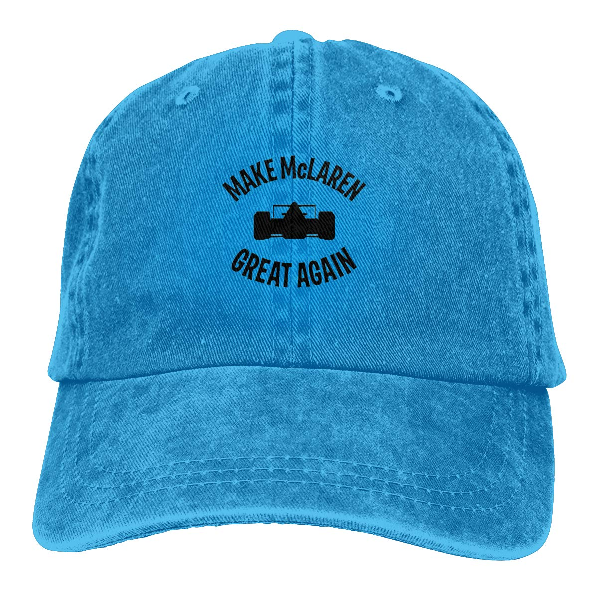 Feeling Unique Make McLaren Great Again Vintage Jeans Baseball Cap Classic Cotton Dad Hat Adjustable Plain Cap Black