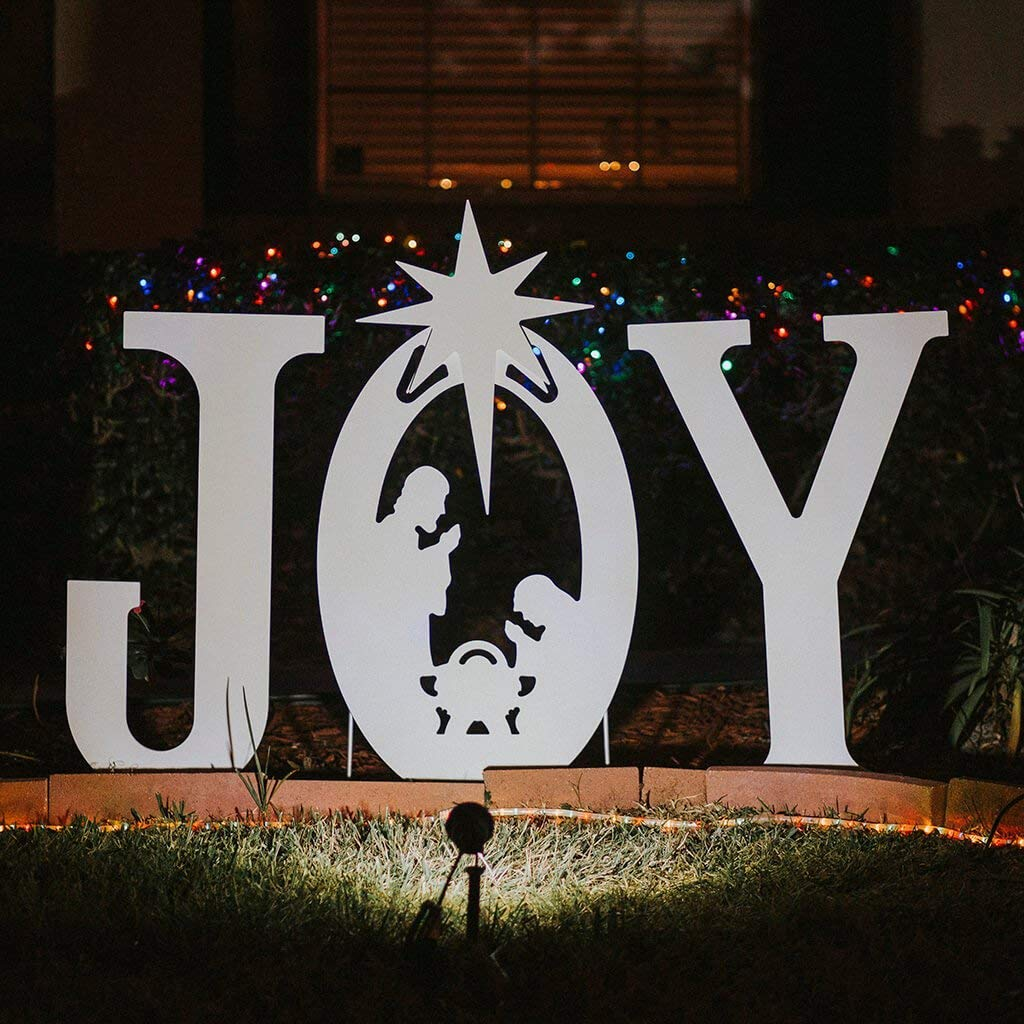 teak isle christmas joy nativity yard sign yard art garden outdoor jpg 1024x1024 with joy nativity - Joy Outdoor Christmas Decoration