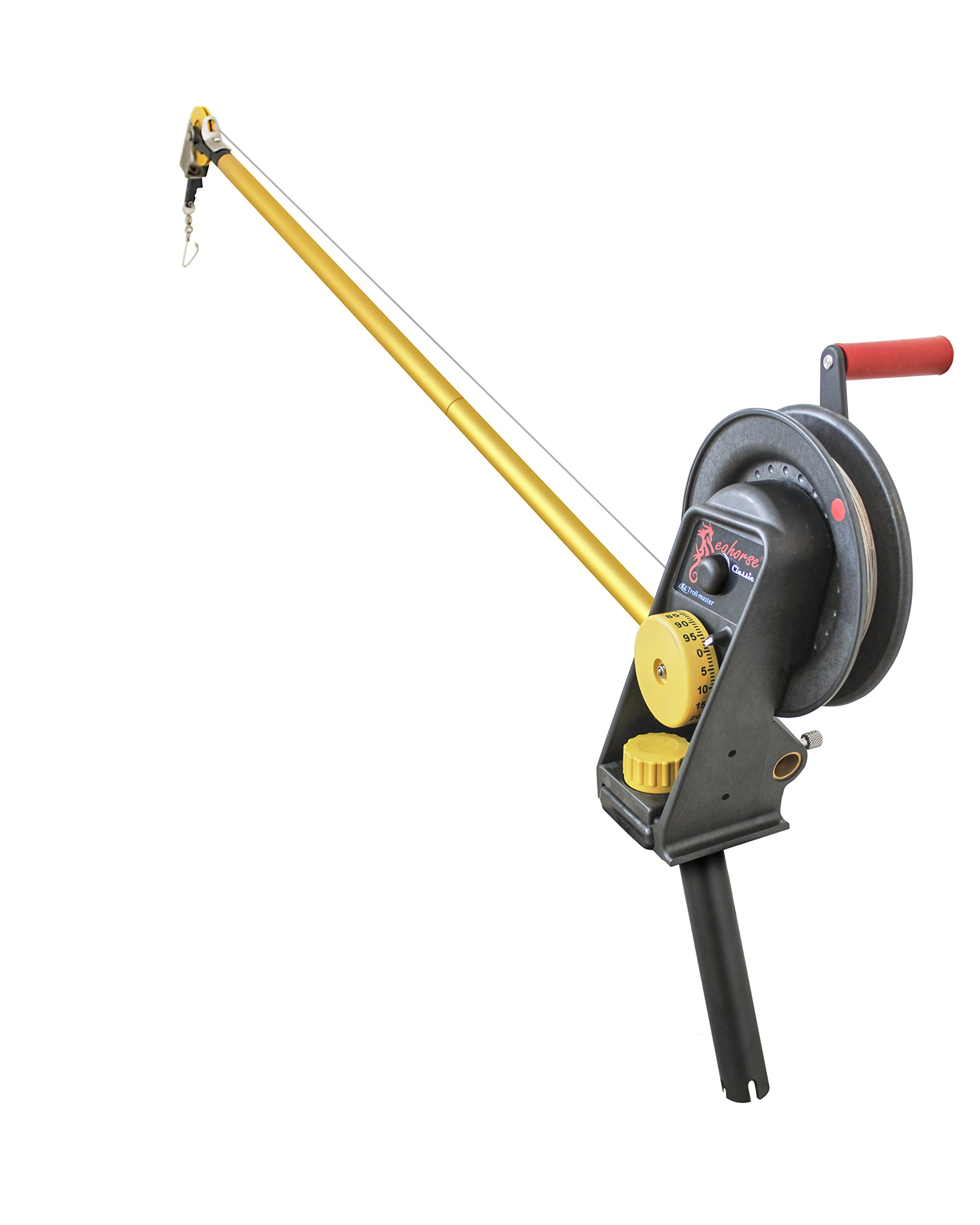 Seahorse Manual Downrigger with Extended Boom and Gimbal Mount By Troll-master by Seahorse
