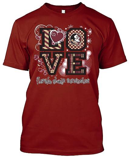 59266b51 Amazon.com : New World Graphics NCAA Love T-Shirts - Multiple Teams ...
