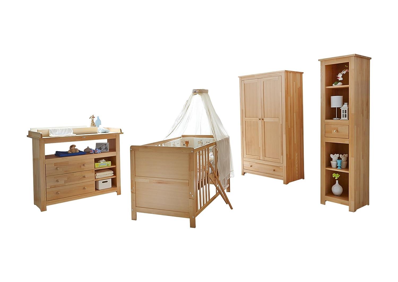 TICAA Babyzimmer Provence I 4-teilig Buche massiv