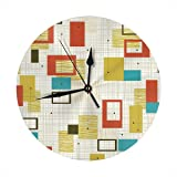Amazon.com: CUPECOY DESIGN Wooden Pendulum Wall Clock with