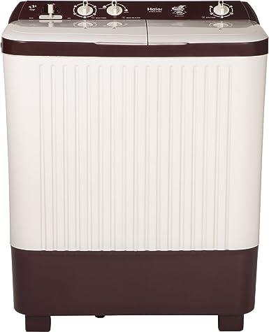 Haier 7.2 kg Semi-Automatic Top Loading Washing Machine (HTW72-187BO, Burgundy)