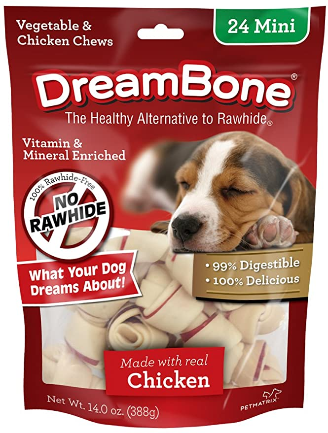 Amazon.com : Dreambone Vegetable & Chicken Dog Chews, Rawhide Free, Mini, 16-Count : Pet Treat Bones : Pet Supplies