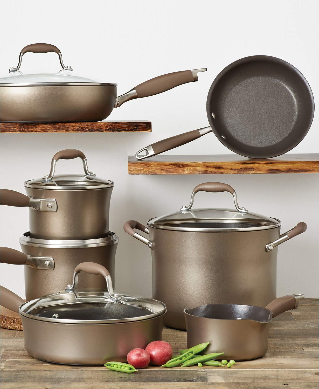 Anolon® Advanced Umber Nonstick Hard Anodized 12-piece Cookware Set