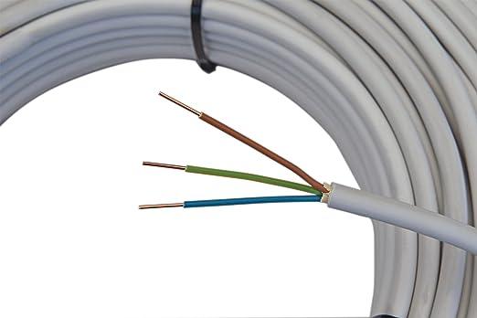 Mantelleitung NYM-J 3x1,5mm² Kabel | 50m 3 adriges ...