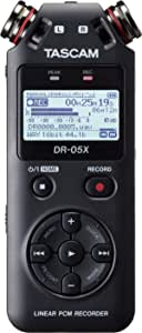 Tascam DR-05X Tascam 05X Stereo Handheld Digital Audio Recorder with USB Audio Interface