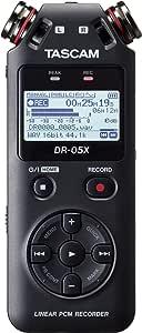 Gravador de Áudio Digital Tascam DR-05X Estéreo de Mão com Interface de Áudio USB