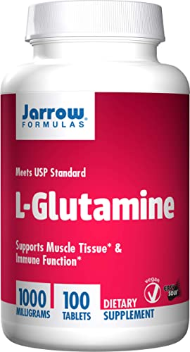 Jarrow Formulations Jarrow L-glutamine, Supports Muscle Tissue Immune Function, 1000 mg, 100 Easy-Solv Tabs