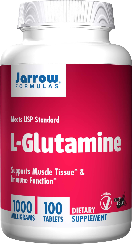 Jarrow Formulations Jarrow L-glutamine, Supports Muscle Tissue & Immune Function, 1000 mg, 100 Easy-Solv Tabs by Jarrow Formulas
