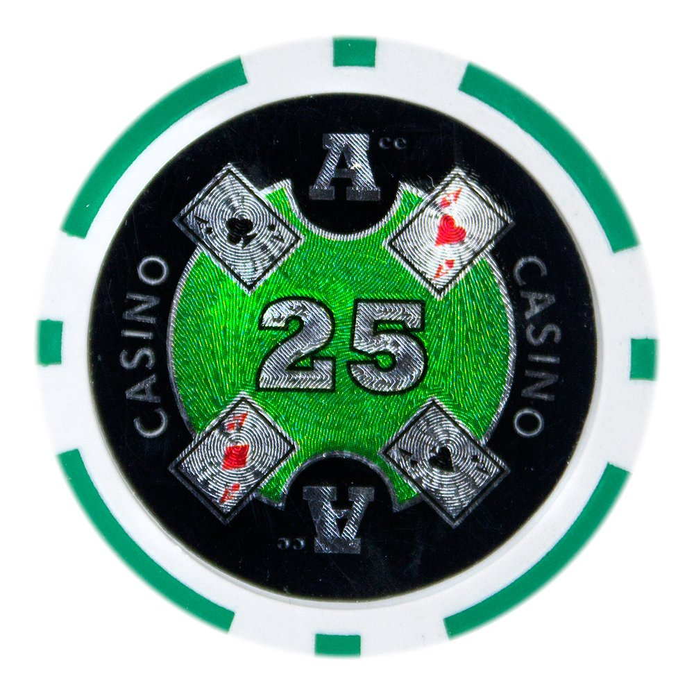 Brybelly パックof Ace – Casino Poker Chip Heavyweight 14-gramクレイComposite $25 – パックof 50 $25 Green B011RWS8OE, Switch Stance:4bf00f1d --- itxassou.fr