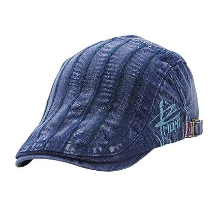 Homyl Sombrero de Boina Ropa de Hombre Mujer Diseño Simple Aspecto Elegante  - Azul 210779c8735