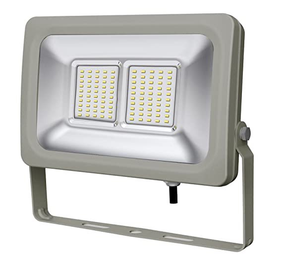 europalamp fl5245 Proyector LED 50 W aluminio gris 325 x 235 x 75 ...