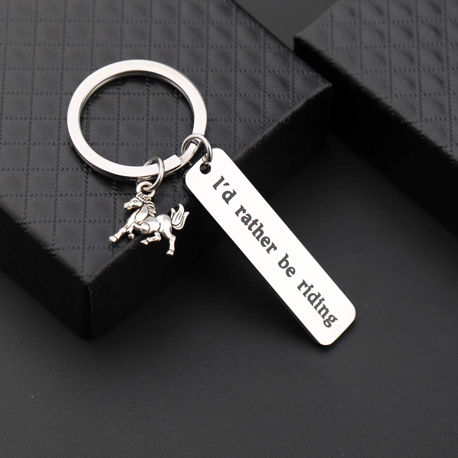 Gzrlyf Horse Keychain Id Rather be Riding Horse Equestrian Gifts for Horse Lovers