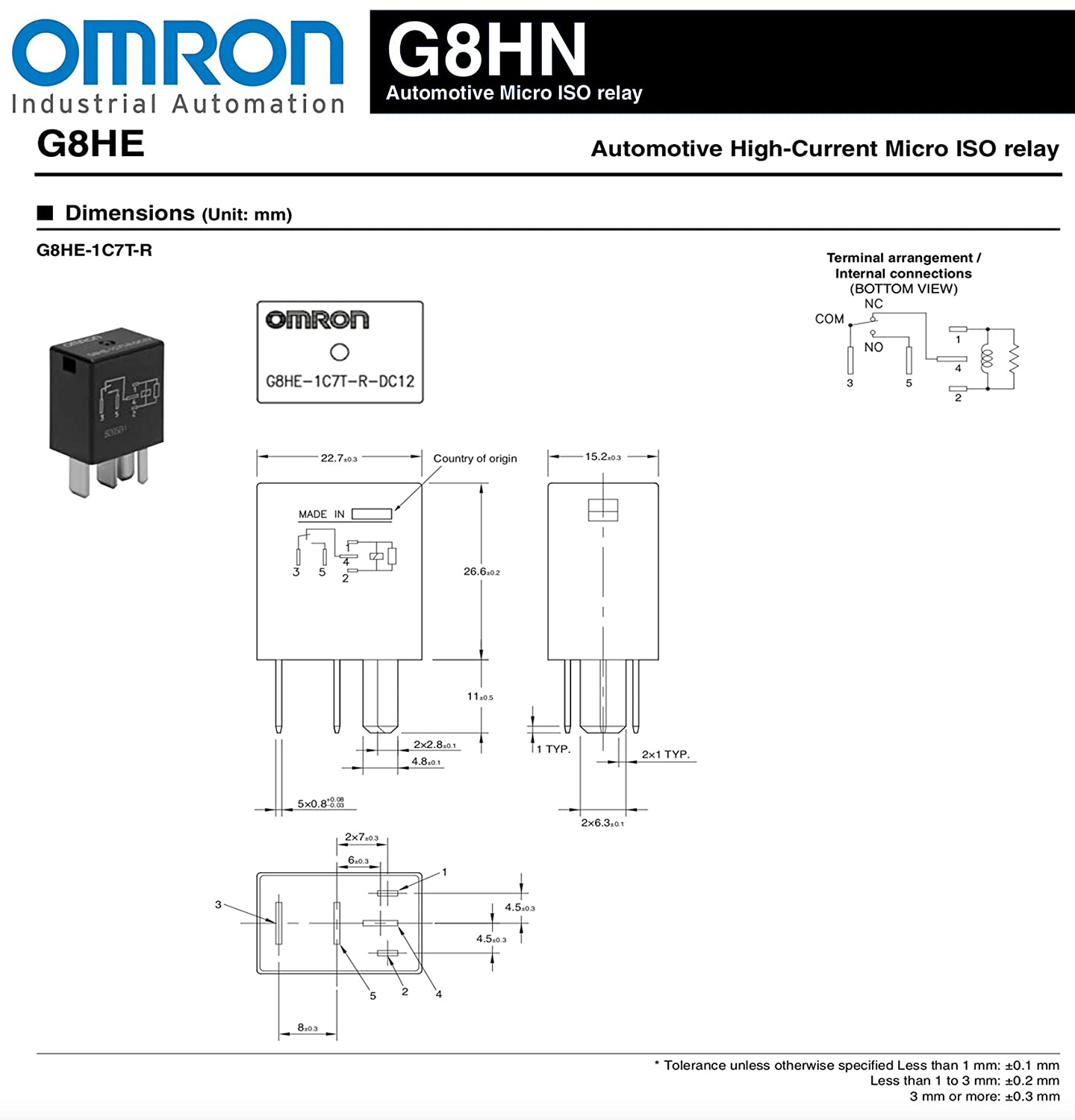 Omron GM 68110952AA - Relay. Micro 5-Pin Multi-Use Relay ... on potter brumfield relay schematic, allen bradley relay schematic, idec relay schematic,