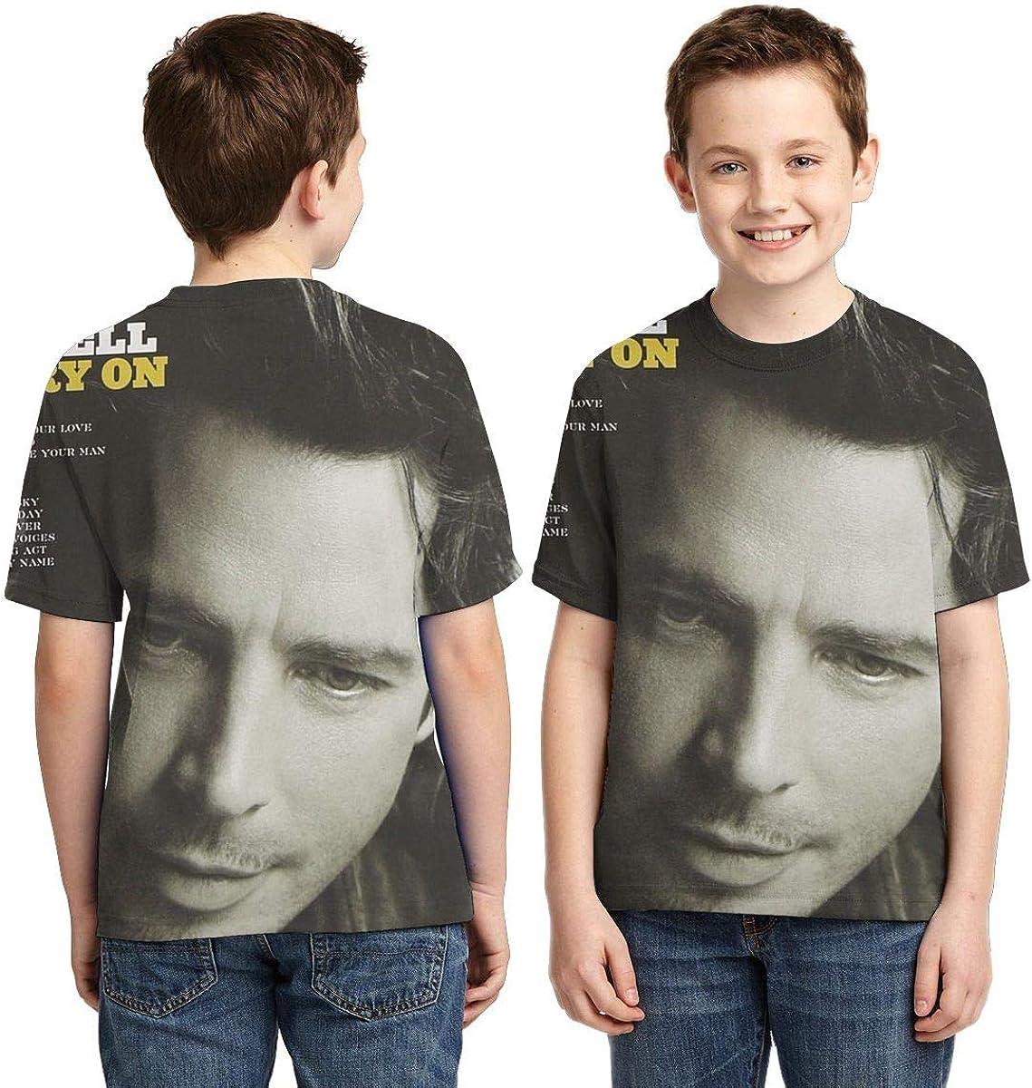BowersJ Kids Chris Cornell Carry On Design 3D Printed Short Sleeve Tshirts for Girls /& Boys Black
