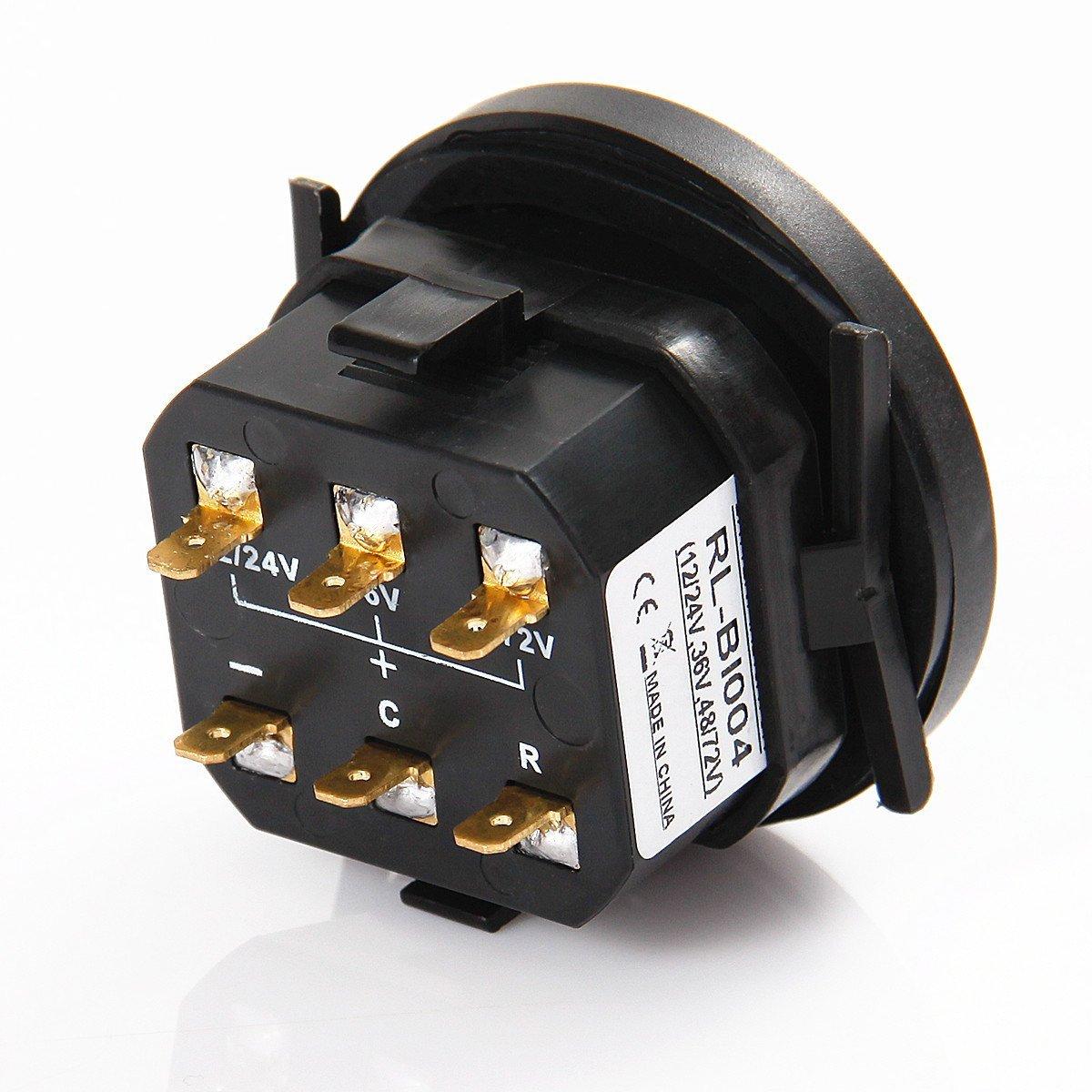 Searon Led 12v 24v 36v 48v 72v Digital Battery Indicator Low Voltage Beeper Using Cmos Timer Status Charge With Hour Meter Gauge Automotive