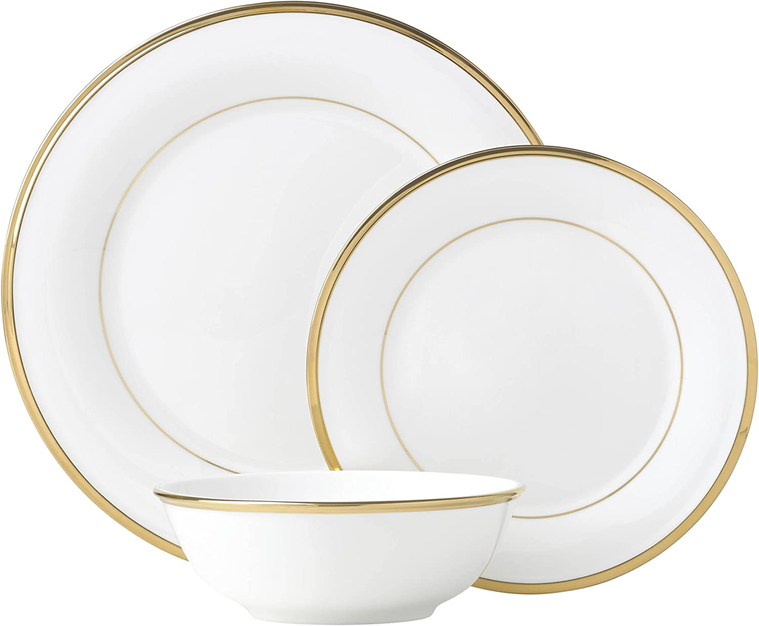 Lenox White Eternal 3-Piece Place Setting, 3.9 LB
