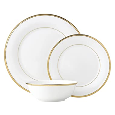 Lenox Eternal White 3 Piece Place Setting dinnerware sets