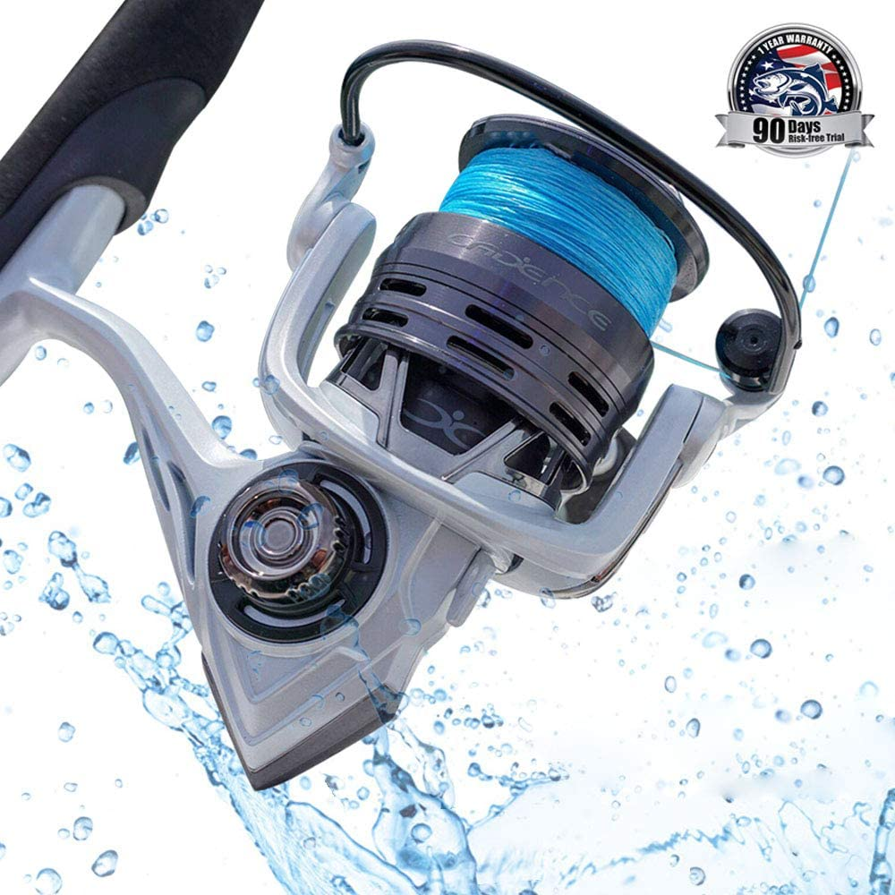 CS4 Spinning Reel,Cadence Ultralight & Fast Speed Carbon Frame Fishing Reel with 8 Low Torque Bearings Super Smooth Powerful Fishing Reel Spinning with 16 Lb Carbon Fiber Drag & 6.2:1 Gear Ratio Reel…