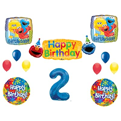 SESAME STREET 2nd Banner Happy Birthday Party Balloons Decoration Supplies Elmo Cookie Monster: Everything Else
