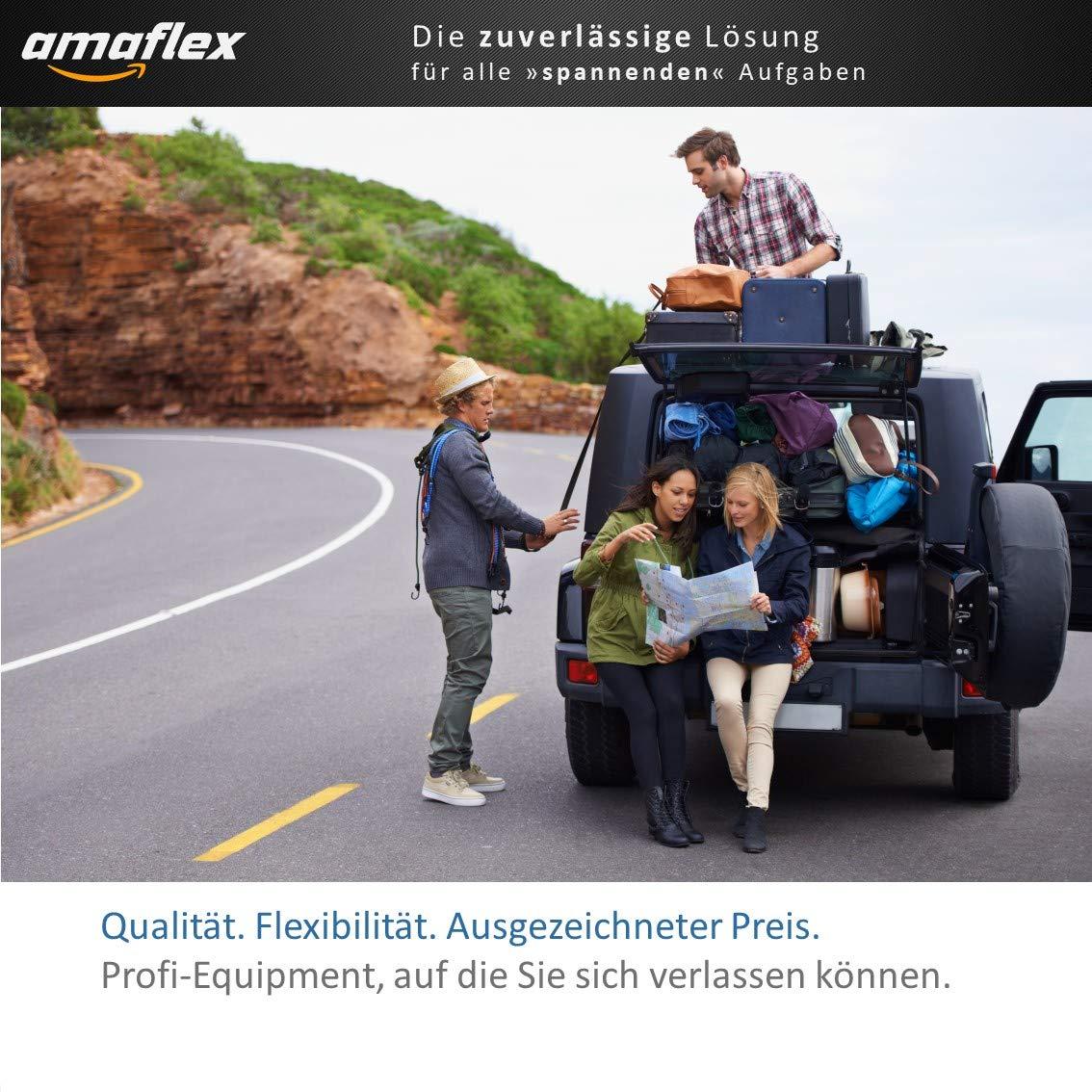 amaflex Set da 12 tenditori per bagagli Expander elastico extra forte Elastici per Bagagli elastici extra forti con ganci, tenditore in gomma ad alta forza di serraggio