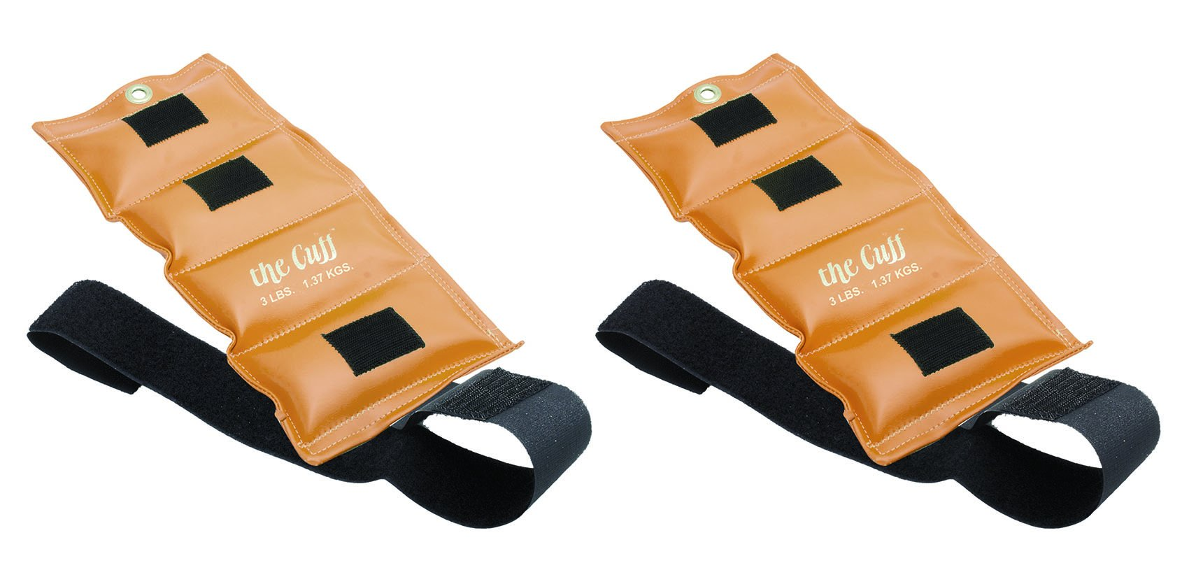 The Cuff Deluxe Ankle and Wrist Weight - 3 pound, Gold - Set of 2