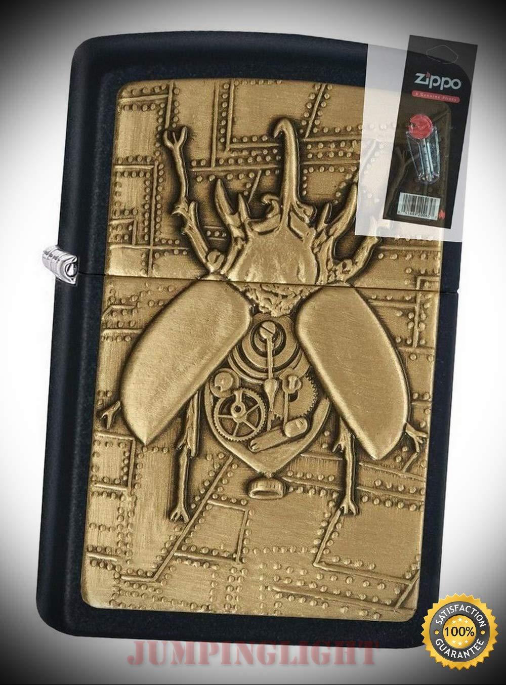 Encendedor Electronico Steampunk, Mechero con emblema de escarab