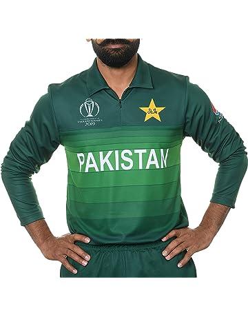 f0576757e AJ Sports 2019 ICC Official Pakistan ODI Cricket World Cup Jersey Long  Sleeve Shirt **