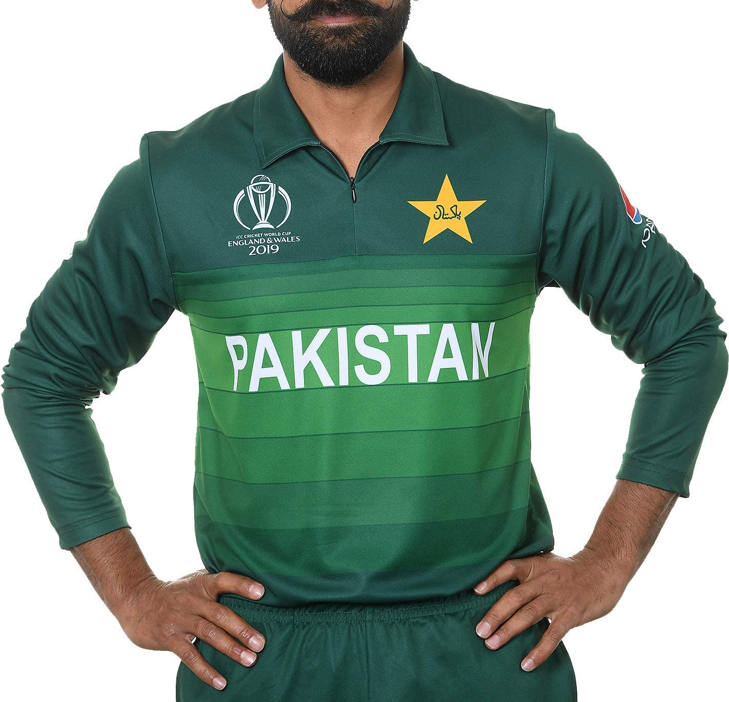 AJ Sports 2019 ICC Official Pakistan ODI Cricket World Cup Jersey Shirt Limited Edition UK