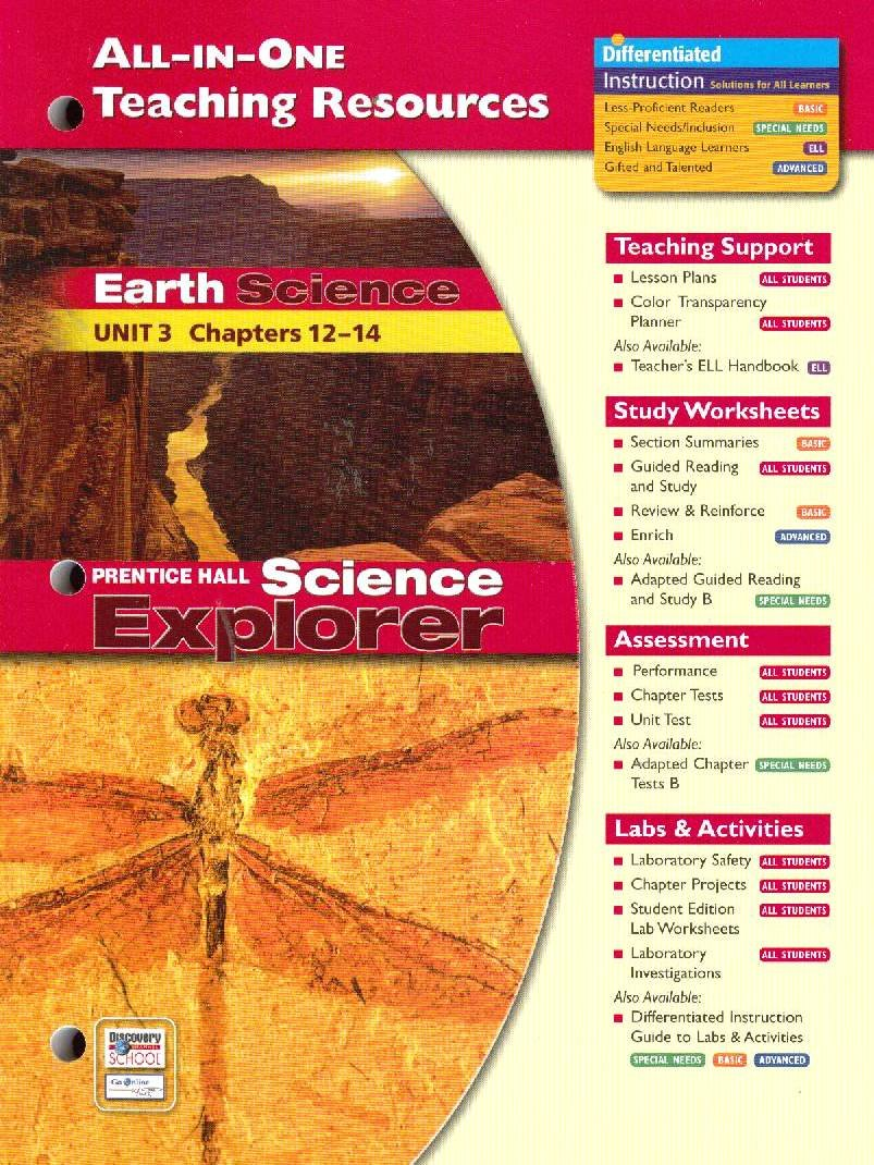 Prentice Hall Science Explorer All-In-One Teaching Resources Earth Science  Unit 3 Chapters 12-14: Pearson Prentice Hall: 9780131903135: Amazon.com:  Books