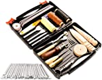 50 Pieces Leather Working Tools and Supplies with Leather Tool Box