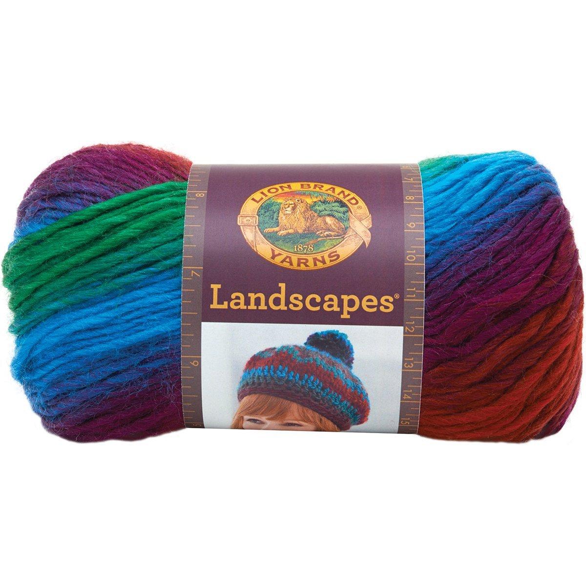 Lion Brand Yarn 545-217 Landscapes Harvest Moon Hometown Yarn,