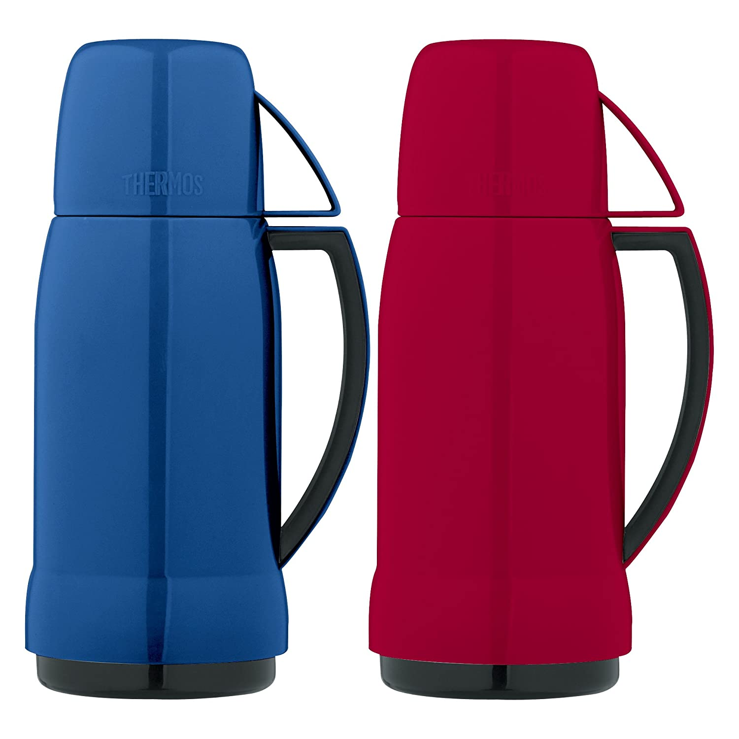 THERMOS CO 33105RB6 Vacuum Bottle Assorted Colors, 17 Oz