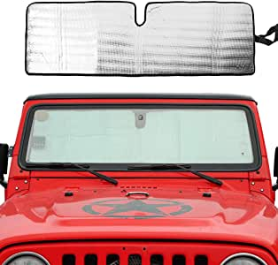 Naseya Car Window Shade for Jeep Windshield Sunshade,Jeep Accessories,Windshield Cover Can Effective Shield Sunlight and Uv,Protect Car Accessories,Cars Sun Visor Apply to Car Windshield