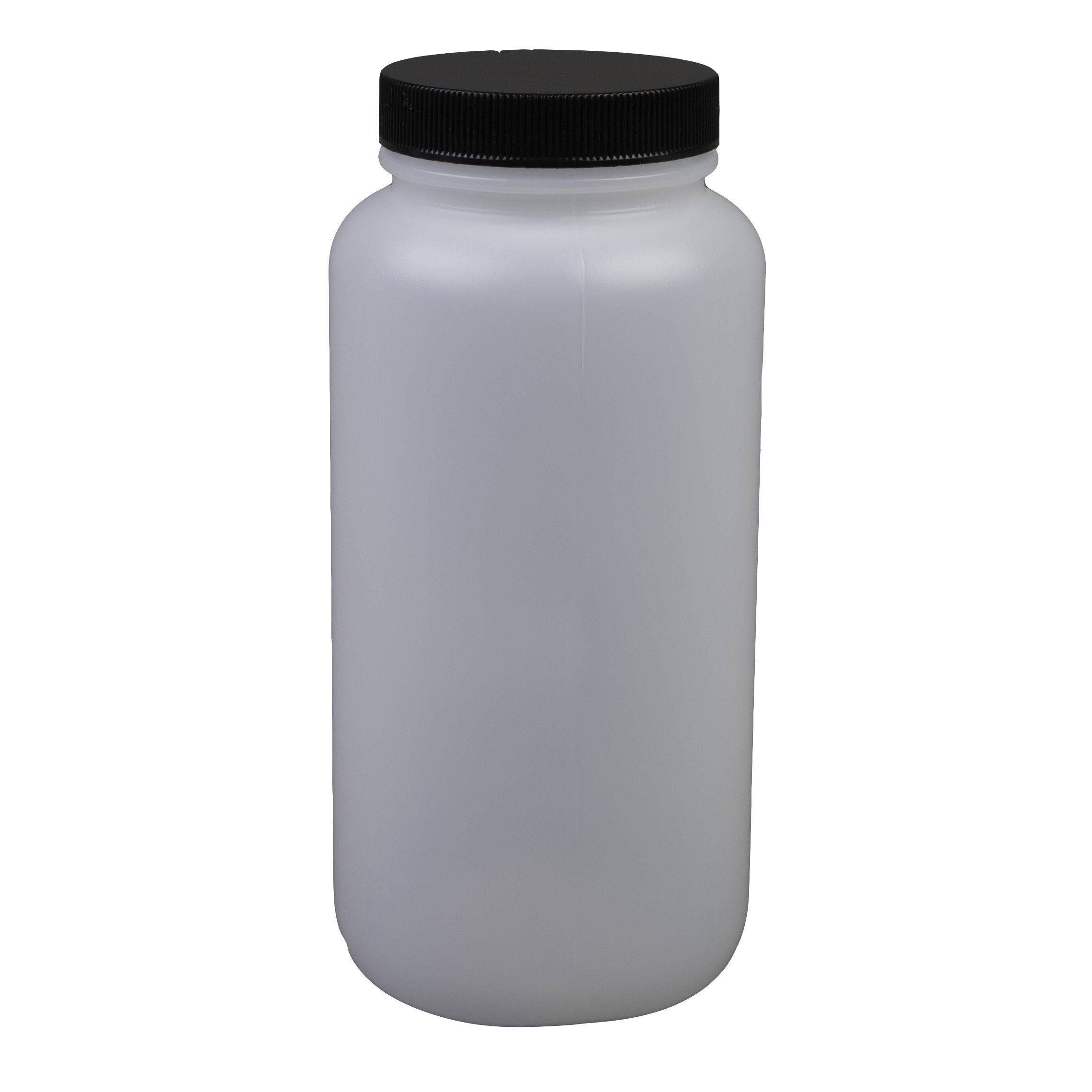 Consolidated Plastics 41676 Pharmaceutical Round Bottle with Cap, HDPE, 500cc., 12 Piece