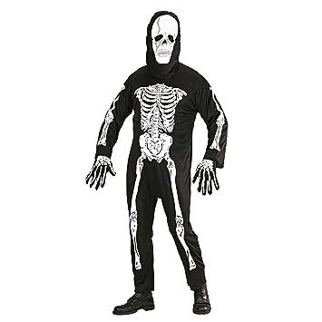 WIDMANN Widman - Disfraz de esqueleto de halloween para hombre ...