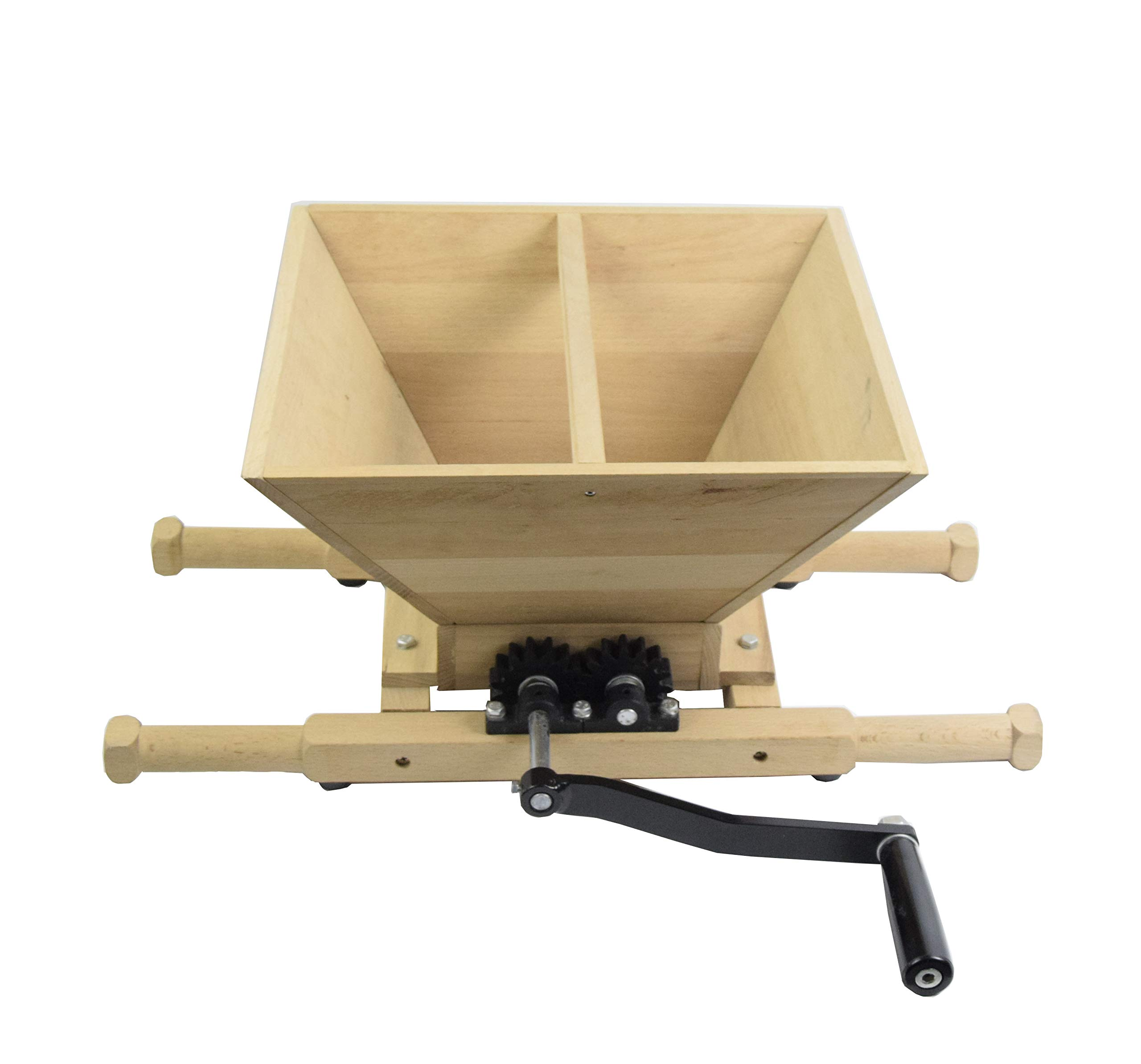 Hard Fruit Crushing 7L Fruit Cutter Apple Cider Wood Home Brew Wine Crusher for Cider Press(Beechwood)
