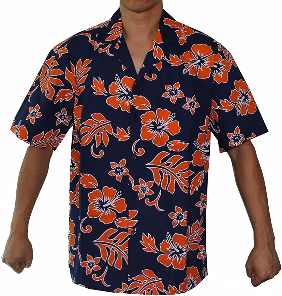 Mens Hibiscus Flower Classic Hawaiian Shirts Made in Hawaii
