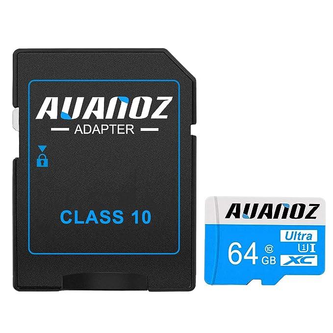 Tarjeta Micro SD 64 GB Auanoz Micro SDHC Clase 10 UHS-I de ...