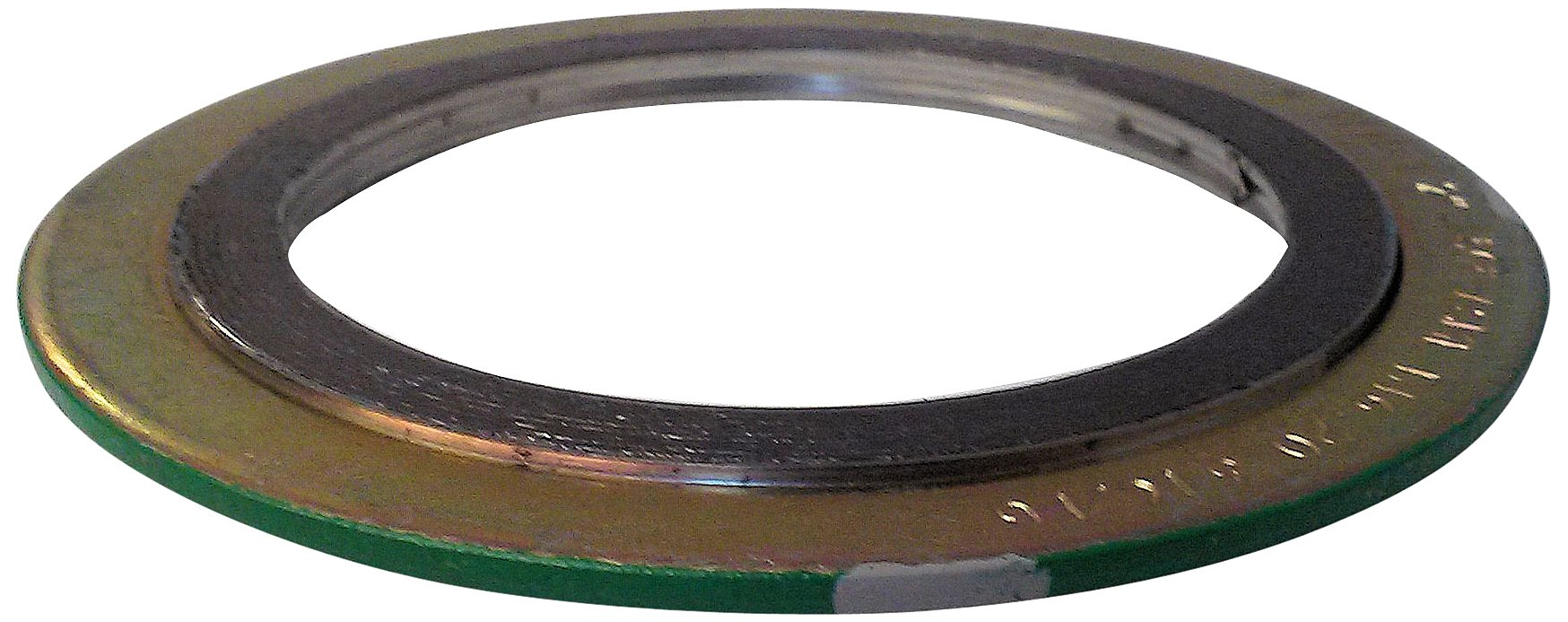 Sur-Seal, Inc. Teadit 90005316GR150 Green Band with Gray Stripe 316LSS/Graphite Spiral Wound Gasket, -150 to 842 Degrees Fahrenheit Temperature Range, 6.13'' ID, 7.75'' OD, for 5'' Pipe Size