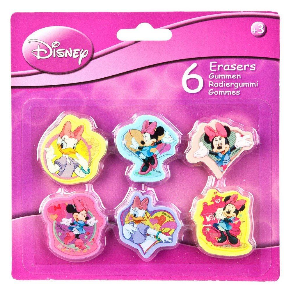 Set di 6 gomma Minnie Mouse Disney bambini new GUIZMAX