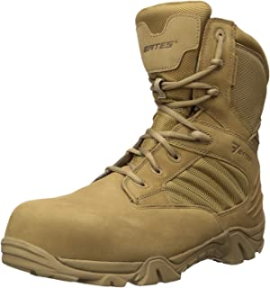 2be9142b46f Amazon.com: Bates Men's GX-8 Comp Toe Side Zip Work Boot: Shoes