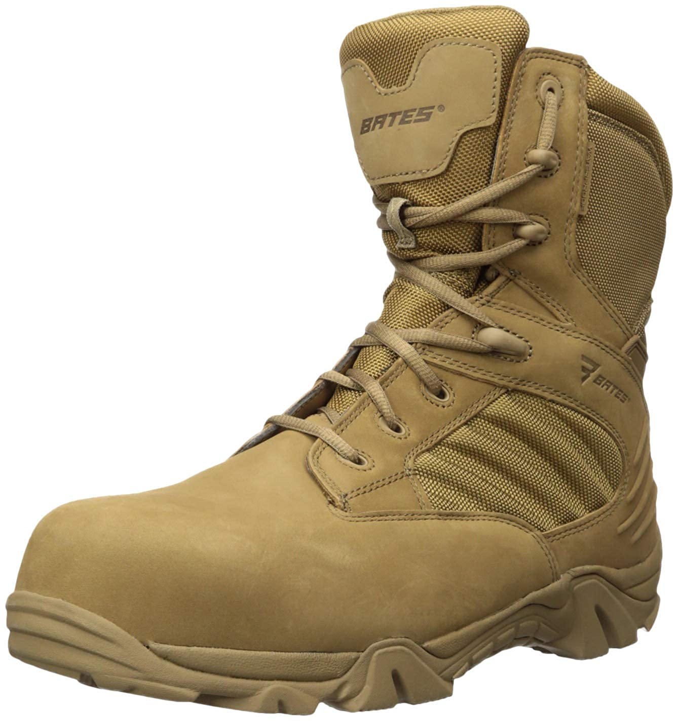 Bates Men's Gx-8 Waterproof Composite Toe Side Zip Military and Tactical Boot E04272
