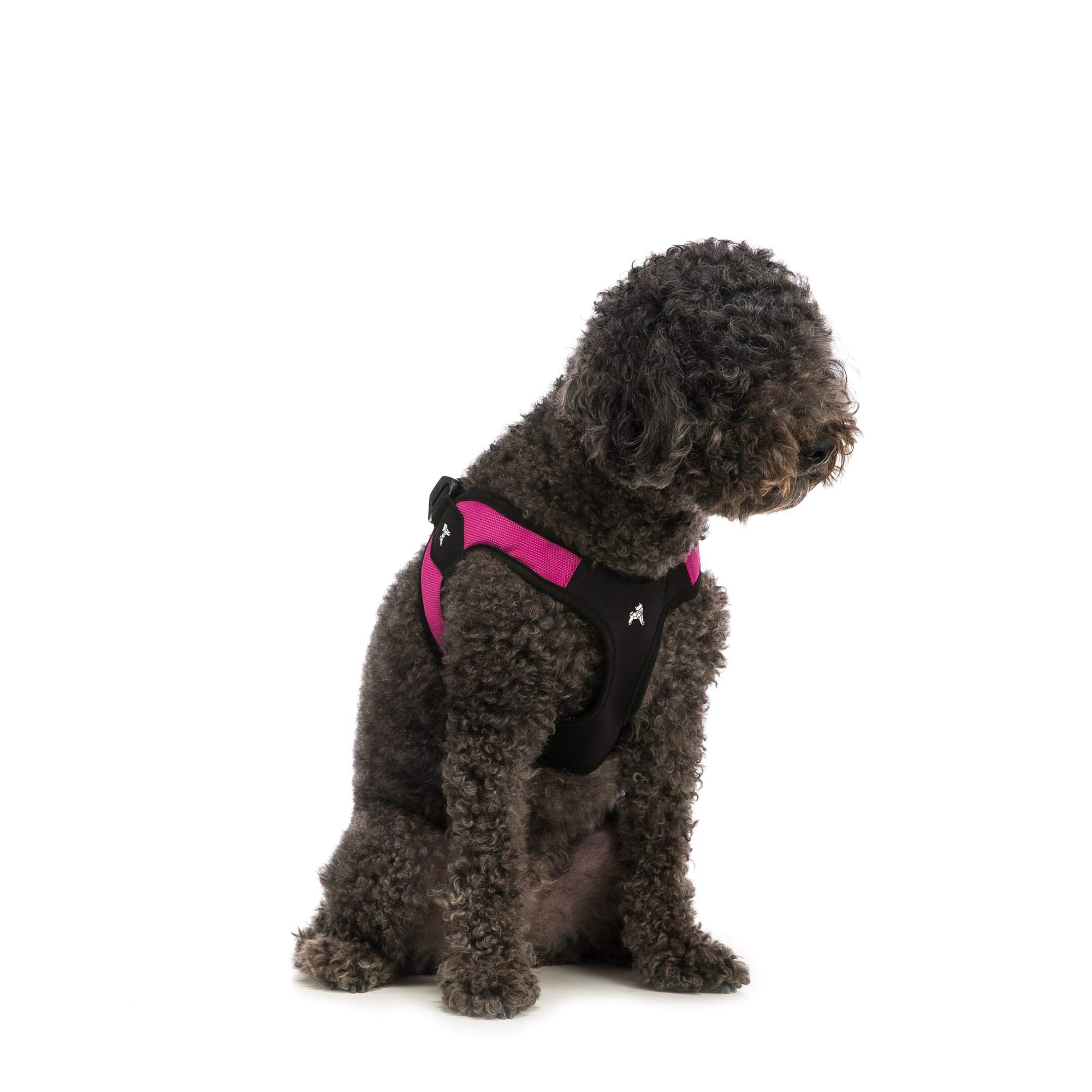 Gooby Escape Free Easy Fit Harness – No Pull Step-in Patented Small Dog Harness with Quick Release Buckle – On The Go No…