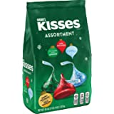 HERSHEY'S KISSES Holiday Chocolate Candy Assortment (Milk Chocolate, Almond, and Cookies 'n' Crème), 36 Ounce