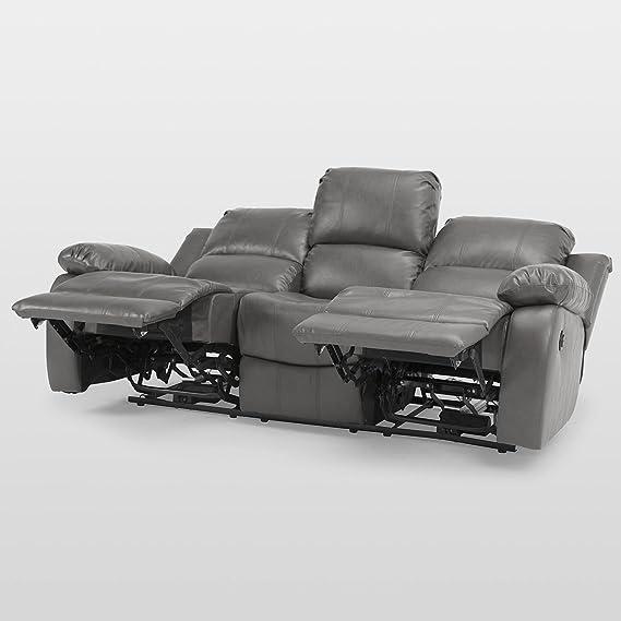 Valencia 3 plazas Eléctrico sillón reclinable sofá salón ...