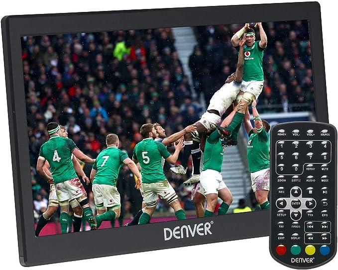 Denver LED-1031 Televisor LED portátil con sintonizador de TV Digital Integrado, DVB-T Antena, Mando a Distancia y Puerto USB, 25,6 cm (10,1 Pulgadas): Denver: Amazon.es: Electrónica