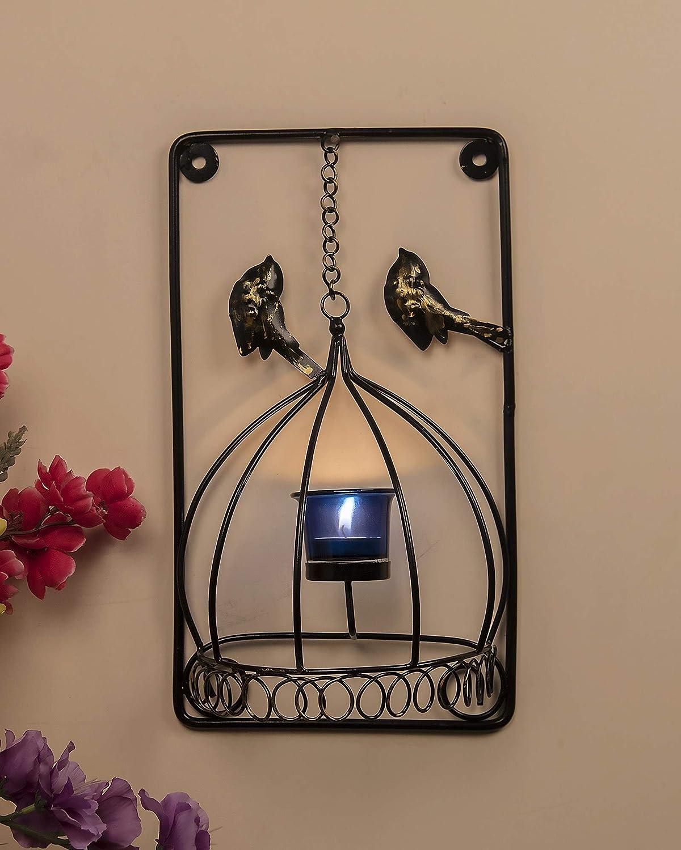 Amazon.com: Portavelas de metal para pájaros con velas de ...