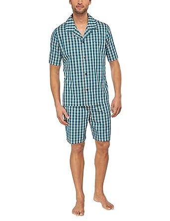 796cfd06da3587 Seidensticker Herren Pyjama Kurz Zweiteiliger Schlafanzug: Amazon.de:  Bekleidung